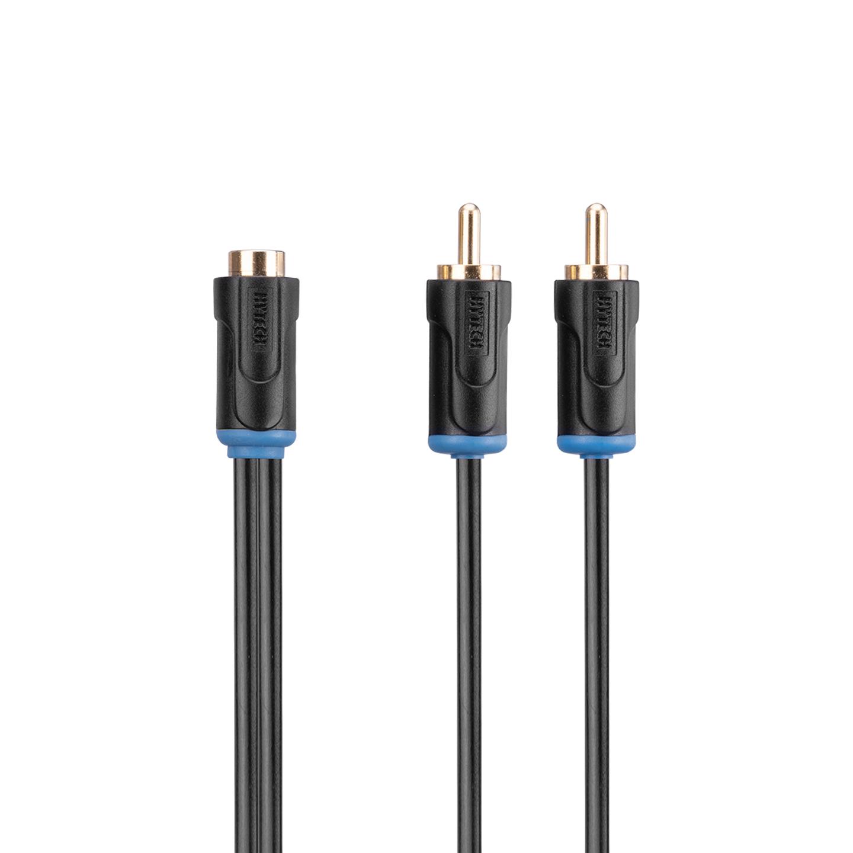 Hytech HY-B105 0.3m Stereo F To 2 RCA M Kablosu