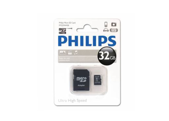 Philips FM32MA35B/97 32 GB Class4 Adaptörlü Micro SD Kart Bellek