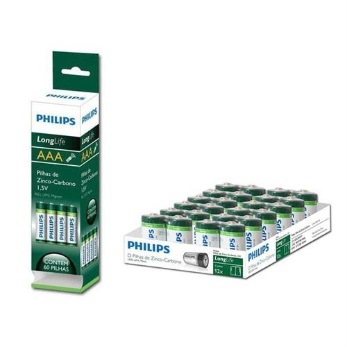 Philips R06L60T/97 Zinc-Chloride Longlife Kutu 60 Adet AA Pil
