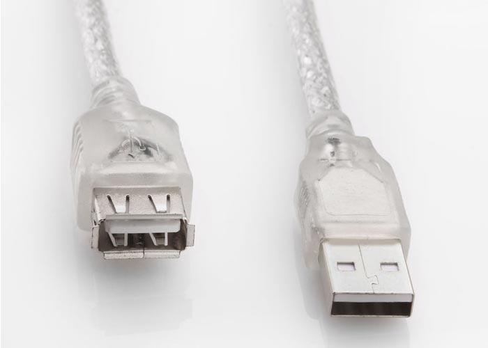 S-link SL-AF2015 Usb2.0 1.5m Transparent power extension cordn Cable