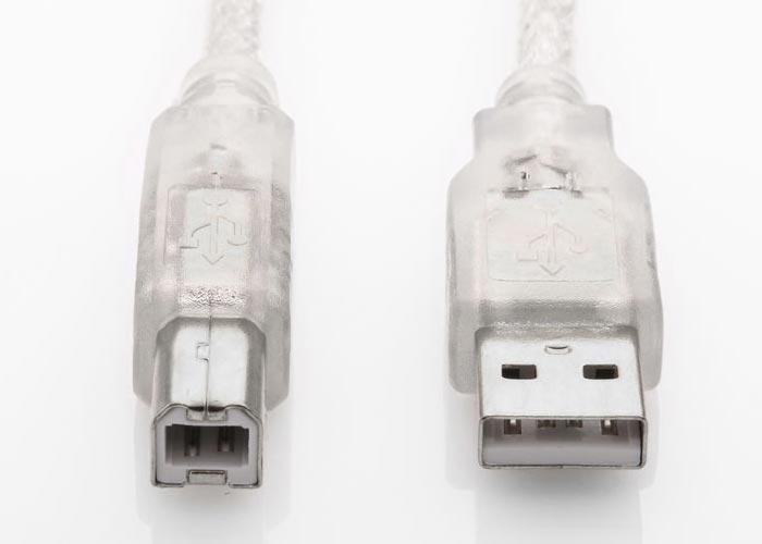S-link SL-U2007 Usb2.0 7m Şeffaf Yazıcı Kablo