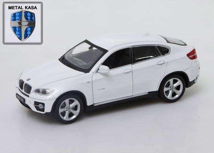 Asonic 25019A Beyaz BMW X6 Metal Kasa 1/24 Uzaktan Kumandalı Araba