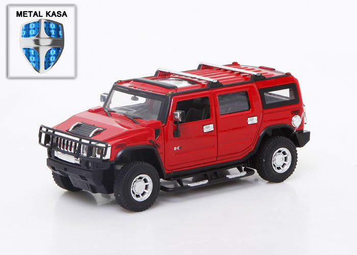 Asonic 25020A Kırmızı Hummer Metal Kasa 1/24 Uzaktan Kumandalı Araba