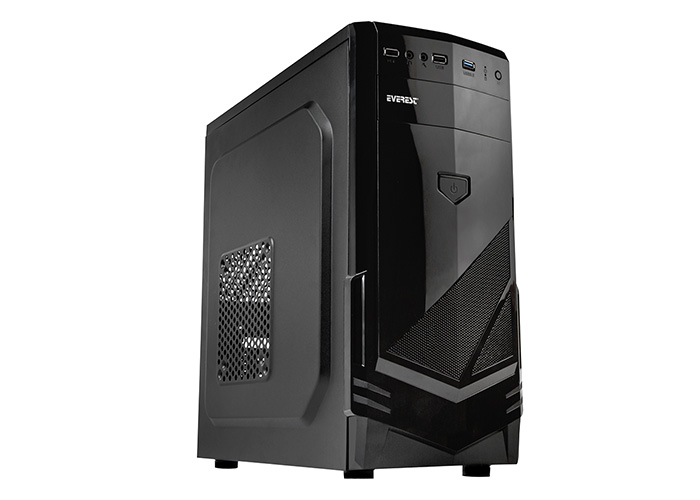 Everest 277A Peak-250W Black Mesh Metal Panel Case