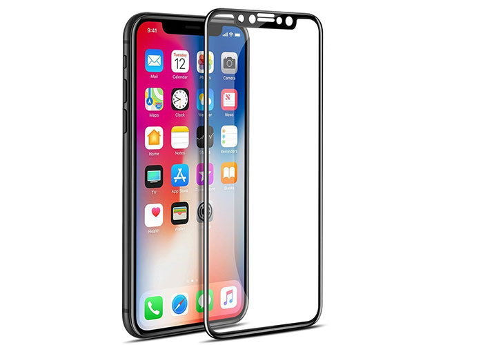 S-link Swapp SWE-IP822DB Black iPhone X Tempered 2D Glass Protector