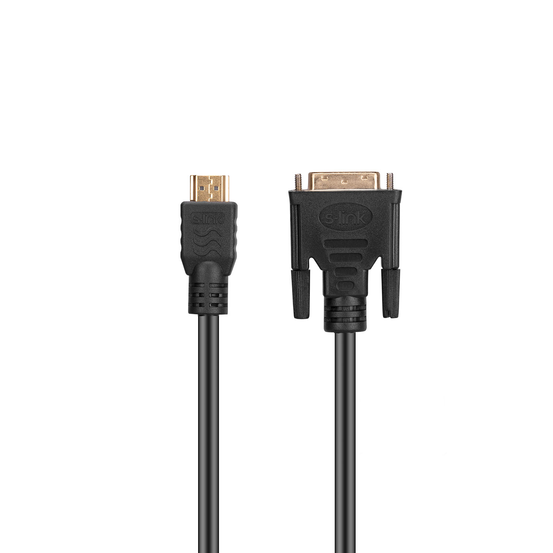 S-link SL-DH016 DVI 24+1 M to HDMI M 1.5m Kablo