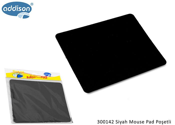 Addison 300142 Siyah Mouse Pad Poşetli