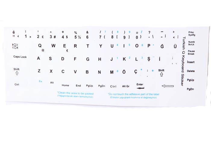 Addison 300167 Türkçe Q Gri Klavye Stiker