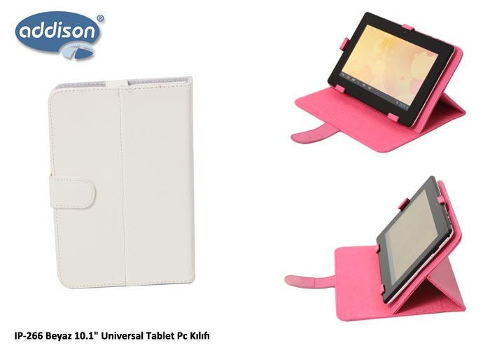 Addison IP-266 Beyaz 10.1 Universal Tablet Pc Kılıfı