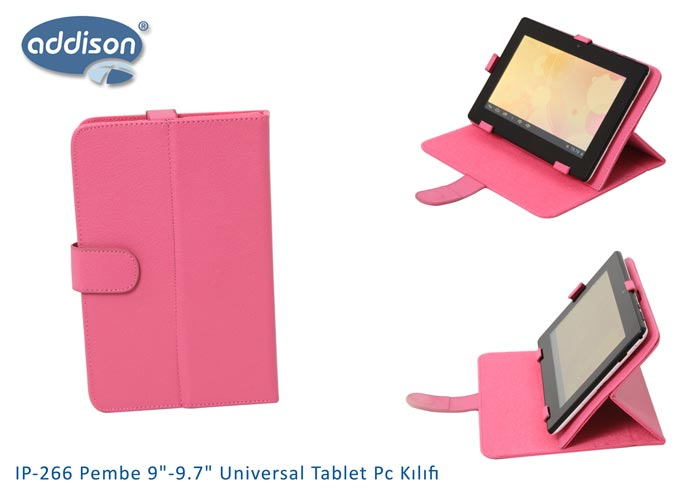 Addison IP-266 Pembe 9-9.7 Universal Tablet Pc Kılıfı