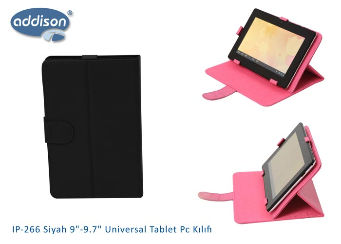 Addison IP-266 Siyah 9-9.7 Universal Tablet Pc Kılıfı