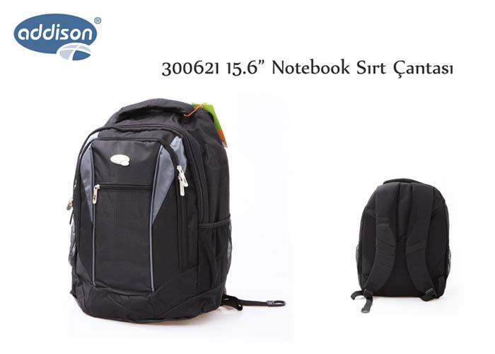 Addison 300621 15.6 Siyah Bilgisayar Notebook Sırt Çantası