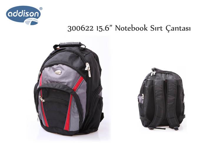 Addison 300622 15.6 Siyah Bilgisayar Notebook Sırt Çantası