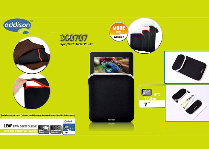 Addison 300707 Siyah/Gri 7 Tablet Pc Kılıfı