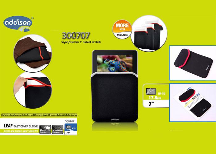 Addison 300707 Siyah/Kırmızı 7 Tablet Pc Kılıfı