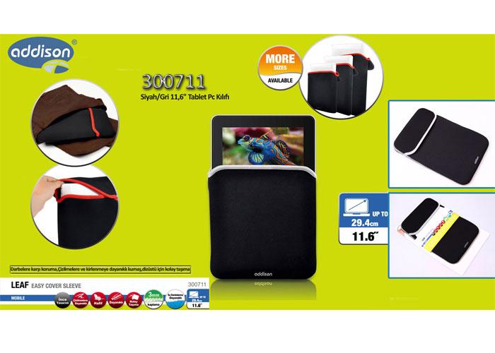 Addison 300711 Siyah/Gri 11 Tablet Pc Kılıfı
