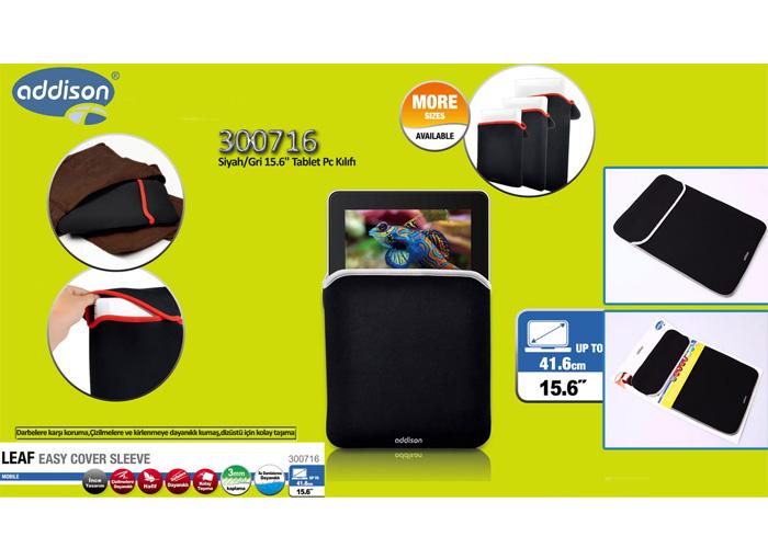 Addison 300716 Siyah/Gri 15.6 Tablet Pc Kılıfı