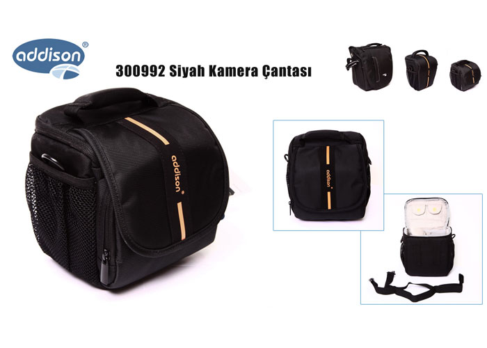 Addison 300992 Black Camera Bag