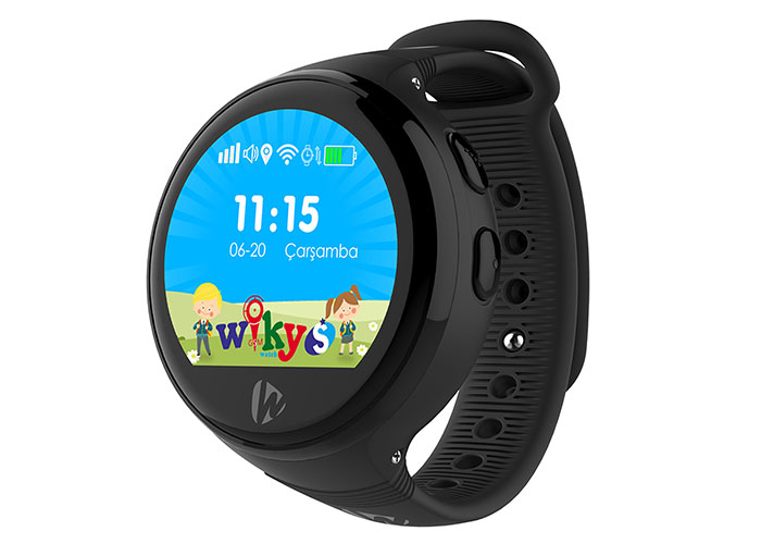 Wiky Watch S Telefon + Gps Özellikli Siyah Akıllı Çocuk Saati