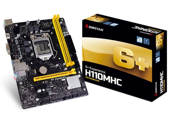 Biostar M/B, H110M Intel LGA1151P DDR4 Anakart