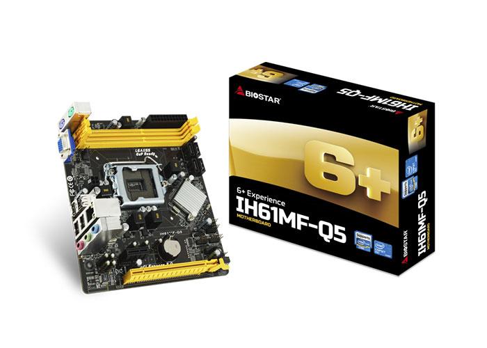 Biostar M/B, H61MF-Q5 Intel LGA1155P DDR3 Anakart