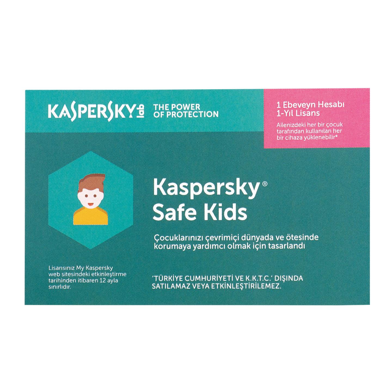 Kaspersky KL1962YUAFS Safe Kids Turkey Edition MD 1K - (1 Kullanıcı / 1 yıl)