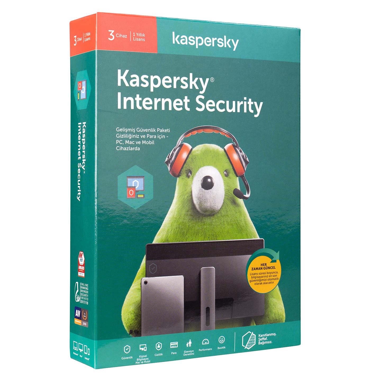 Kaspersky KL1939YUCFS Internet Security - Multi-Device (3 Kullanıcı-1 Yıl)