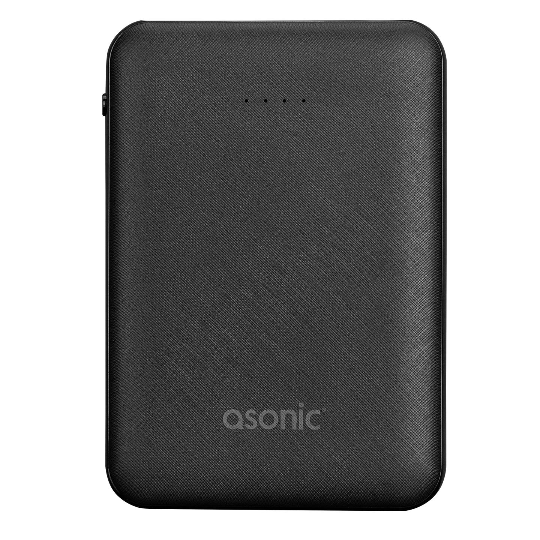 Asonic AS-P05 5000mAh 2*USB Output Powerbank Siyah Taşınabilir Pil Şarj Cihazı