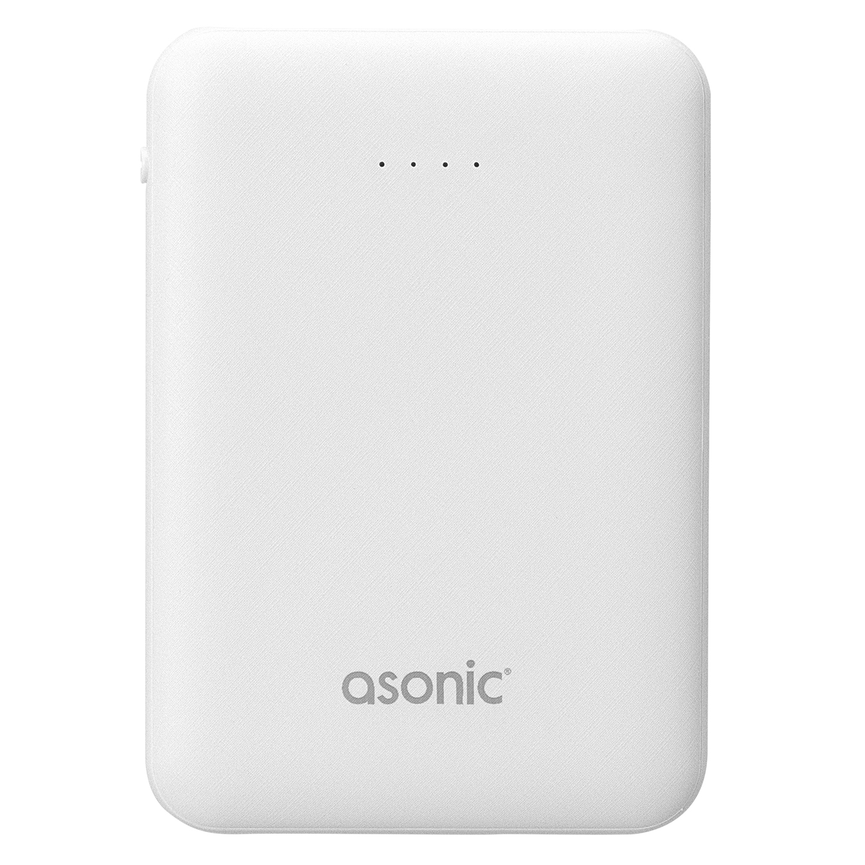 Asonic AS-P05 5000mAh 2*USB Output Powerbank Beyaz Taşınabilir Pil Şarj Cihazı