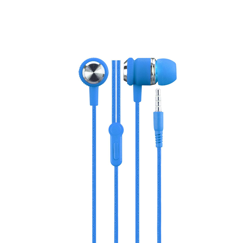Hytech HY-XK24 Mobil Telefon Uyumlu Kulak içi Mavi/Gümüş Mikrofonlu Kulaklık