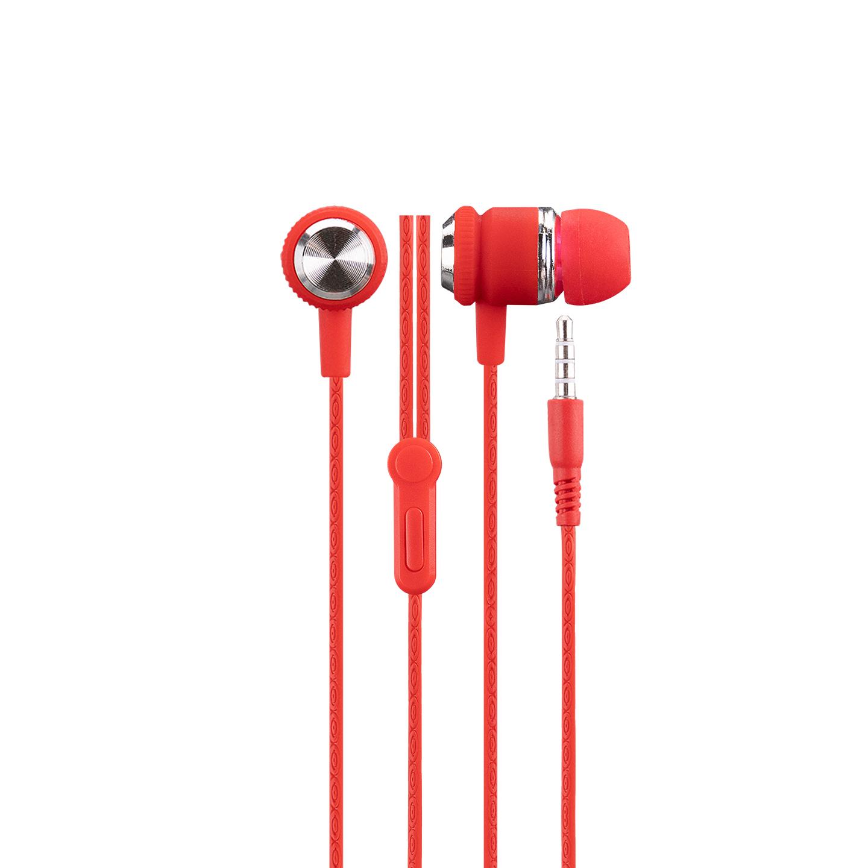 Hytech HY-XK24 Mobil Telefon Uyumlu Kulak içi Kırmızı/Gümüş Mikrofonlu Kulaklık