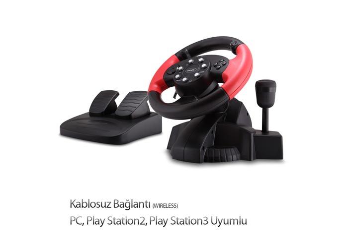 Snopy FT-33C4 PC/PS2/PS3 3 in 1 Titreşimli Kablosuz Direksiyon