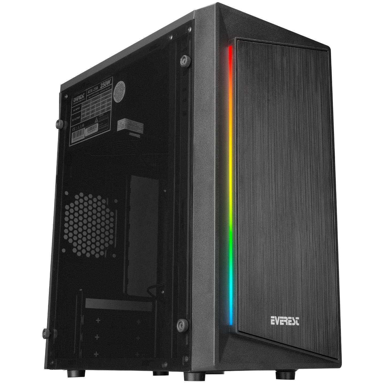 Everest BLAZON RGB Led Şeritli Peak 250W Akrilik Panel Gaming Oyuncu Kasası