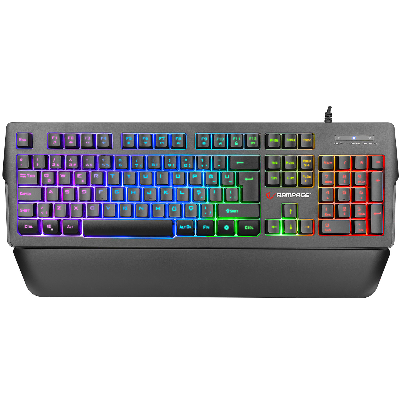 Rampage KB-R62 CLASSY RGB Aydınlatmalı Makrolu Bileklik Destekli Gaming Oyuncu Klavyesi