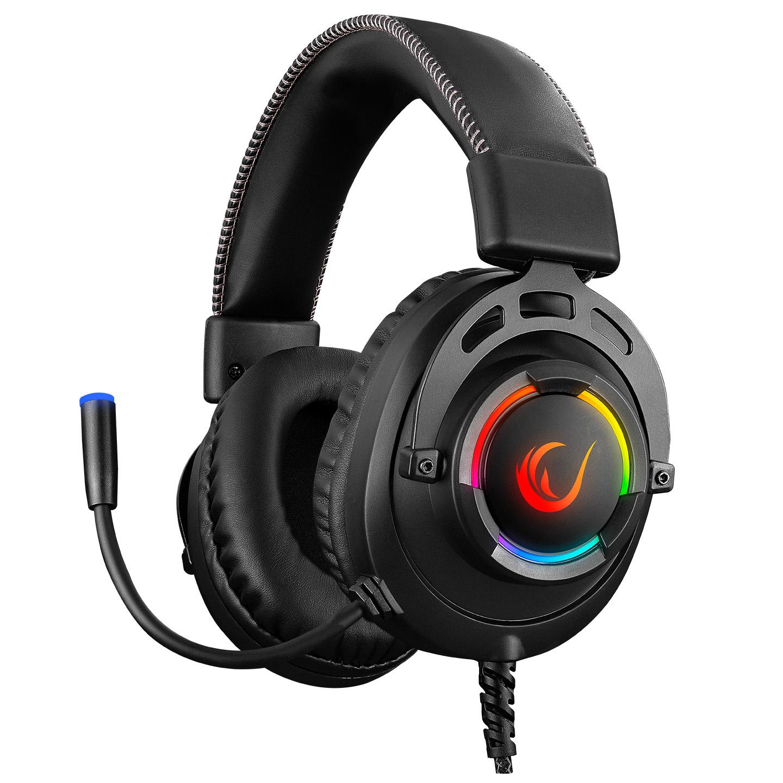 Rampage RM-K28 GHOST Siyah USB 7.1 Surround RGB Işık Efektli Gaming Oyuncu Mikrofonlu Kulaklık