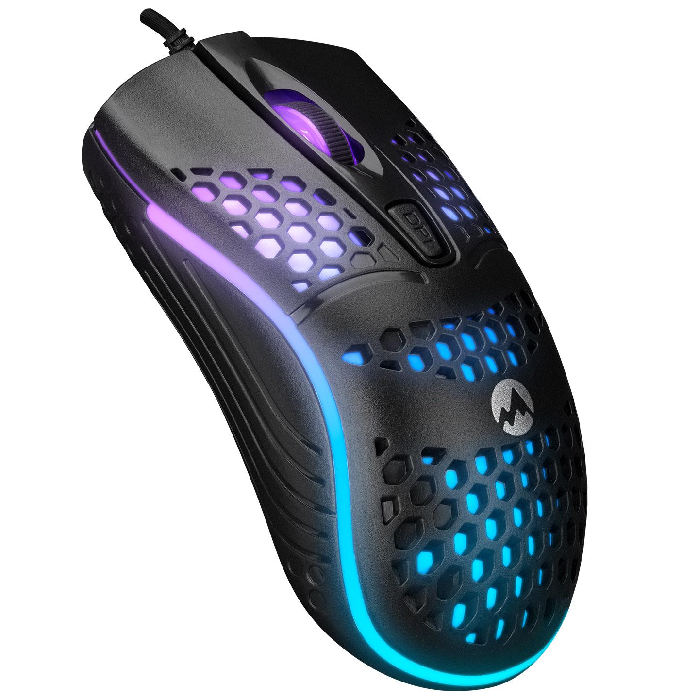 Everest SM-654 ECO Usb Siyah 4D Optik LED Işıklı Gaming Oyuncu Mouse