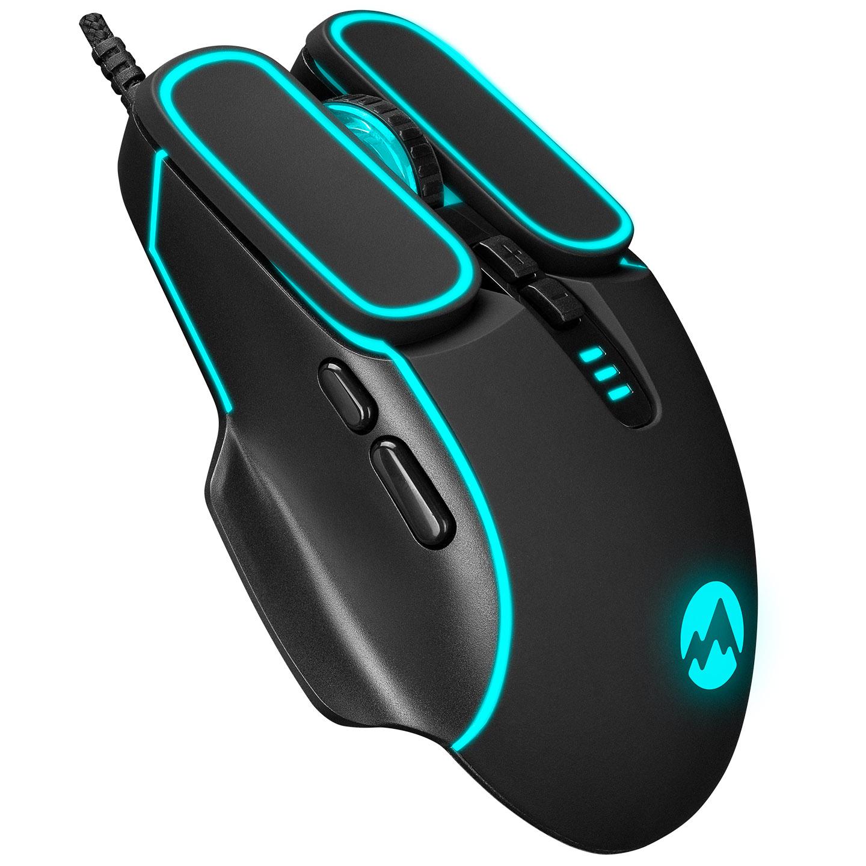 Everest SM-G55 X-FORA Usb Siyah 7D Optik 7200dpi LED Işıklı Gaming Oyuncu Mouse