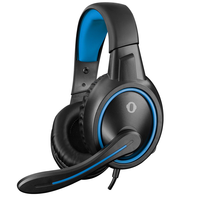 Snopy SN-GX1 ERGO Siyah/Mavi 3,5mm Gaming Oyuncu Mikrofonlu Kulaklık