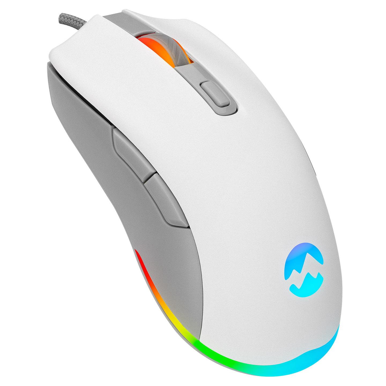 Everest SGM-L1 LUMOS Usb Beyaz/Gri 6400 Dpi Gaming Oyuncu Mouse