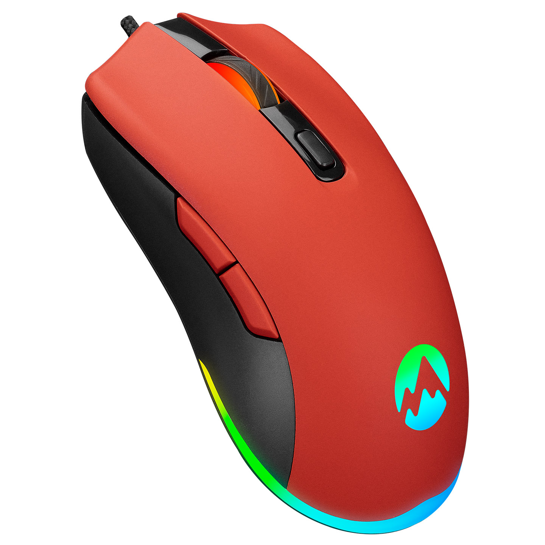 Everest SGM-L1 LUMOS Kırmızı 6400dpi RGB Ledli Makrolu Gaming Oyuncu Mouse