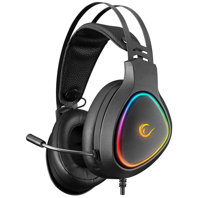 Rampage RMX-G7 SNIPER Siyah USB RGB Gaming Mikrofonlu Kulaklık