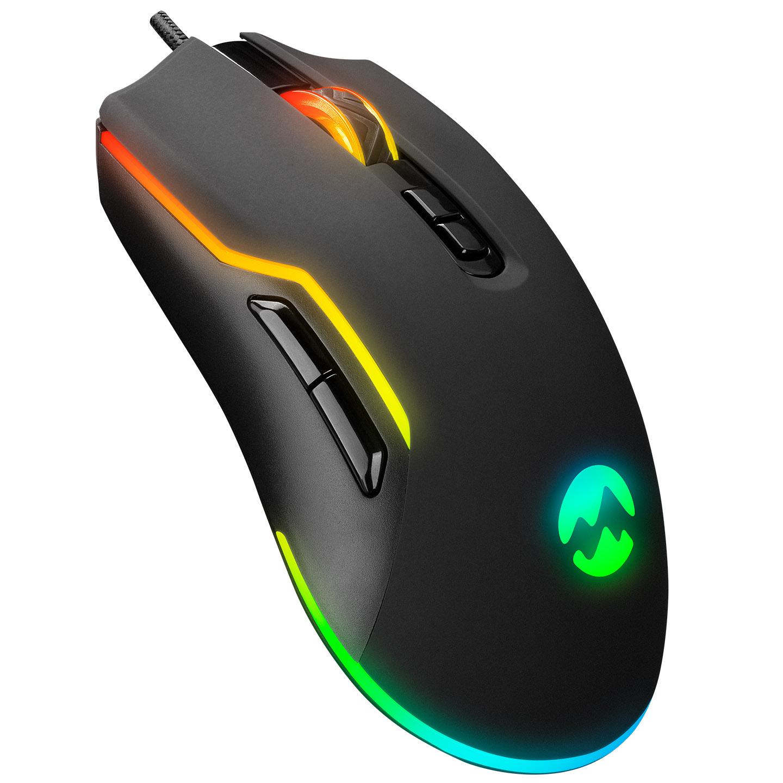 Everest SM-G14 DUSK Usb Siyah 1600-7200 dpi RGB Ledli Gaming Oyuncu Mouse