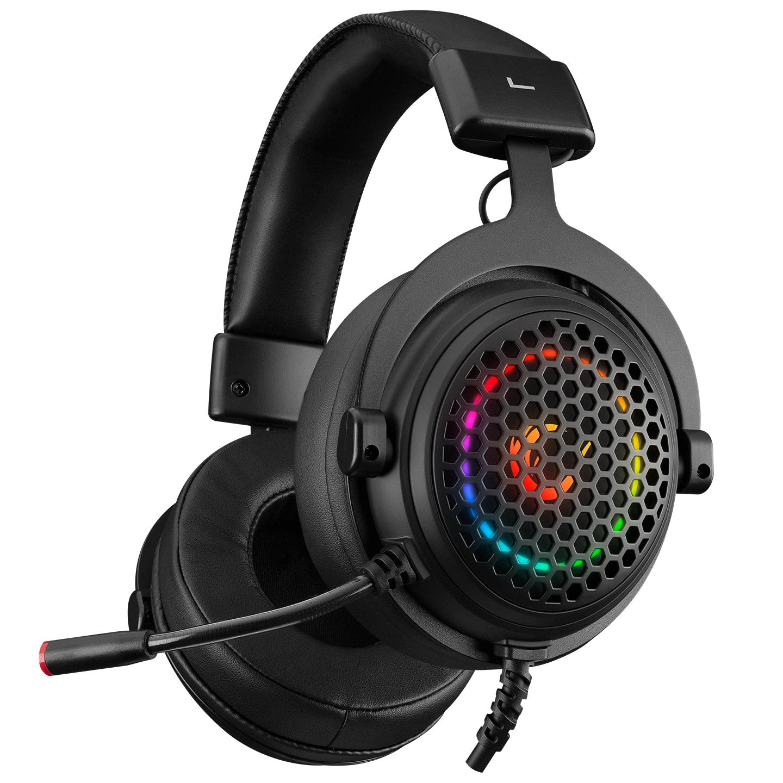 Rampage MAJESTY Siyah RGB Led 7.1 Surround Sound System Gaming Mikrofonlu Oyuncu Kulaklığı