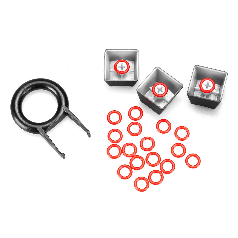 Rampage Silicone O-Ring Kırmızı Mekanik Klavye Sessizleştirici 40A-L Slikon Ring