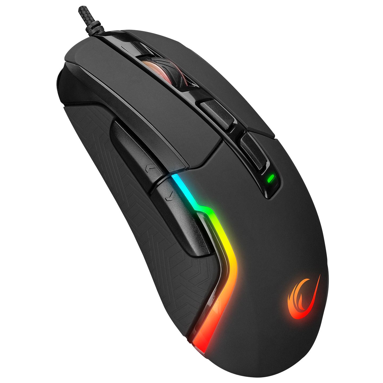 Rampage SMX-R68 FALCON-X Usb Siyah 800-6400 dpi RGB Ledli Gaming Oyuncu Mouse