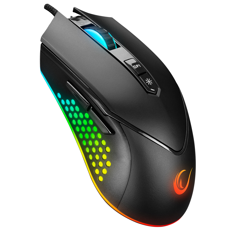 Rampage SMX-R43 X-GRIND Usb Siyah 6400 Dpi RGB Led Efektli Gaming Oyuncu Mouse