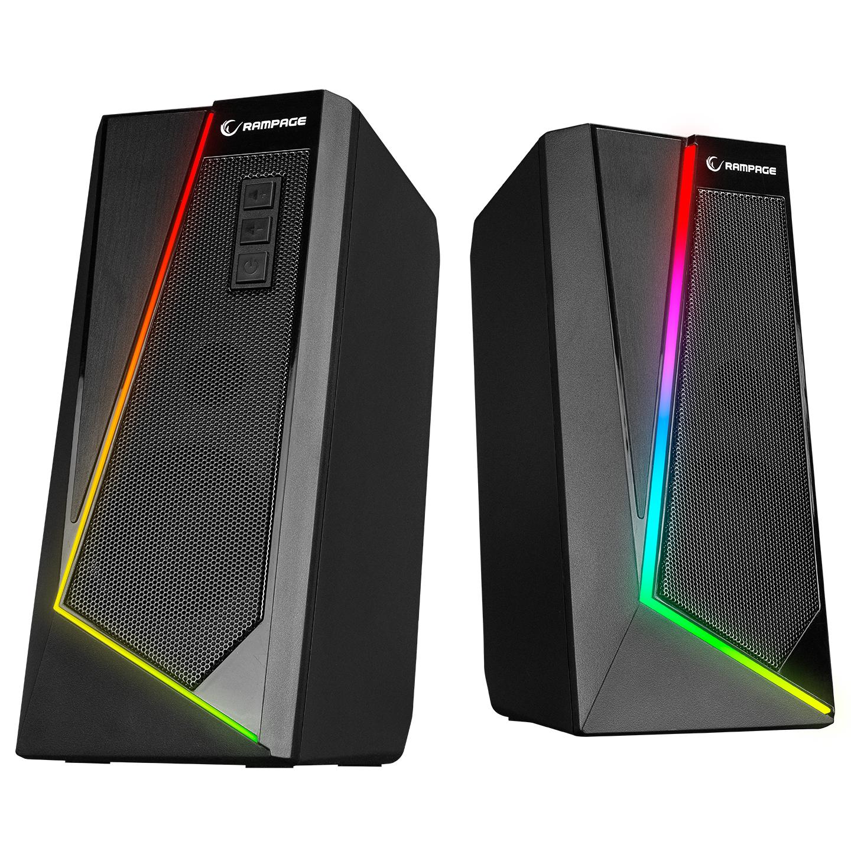 Rampage RMS-X8 MAJESTY Bluetooth  FMLi RGB Işıklı Multimedia Gaming Oyuncu 2.0 Speaker