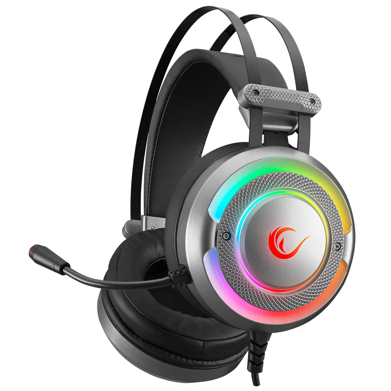 Rampage G7 X-RUNNER Gri RGB Led 7.1 Gaming Mikrofonlu Oyuncu Kulaklığı