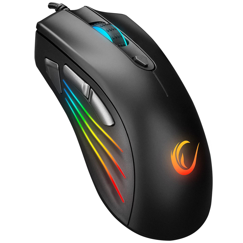 Rampage SMX-R33 LIMBO Makrolu Siyah 6400dpi RGB Ledli Gaming Oyuncu Mouse