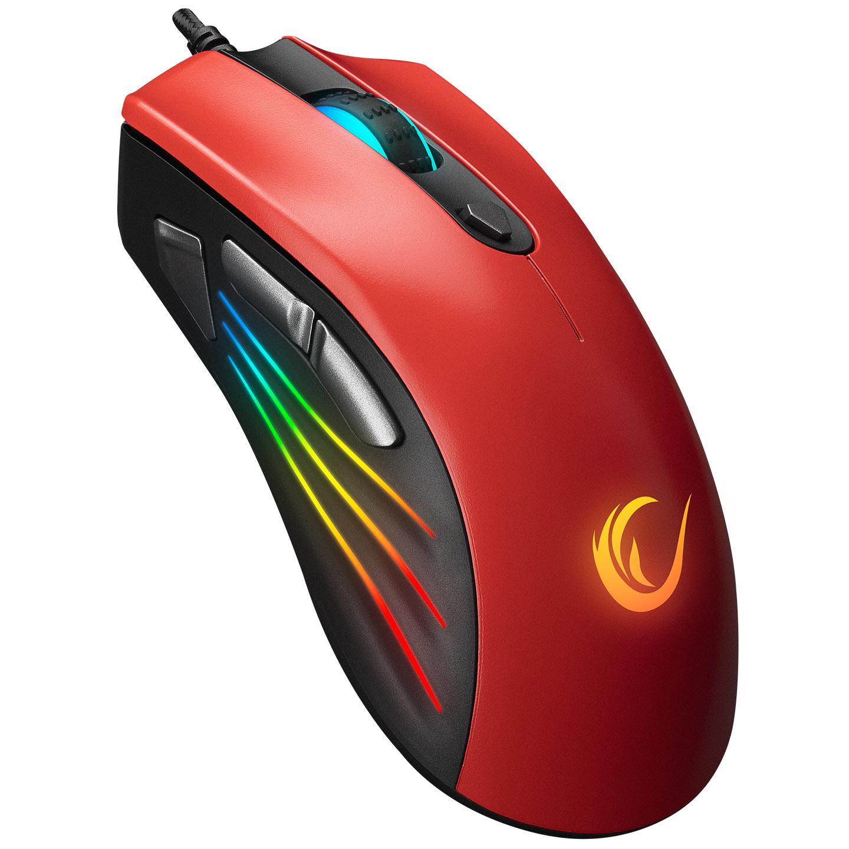 Rampage SMX-R33 LIMBO Makrolu Siyah/Kırmızı 6400dpi RGB Ledli Gaming Oyuncu Mouse